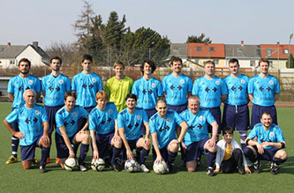 The football team Dsg Blue Danube
