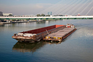 Vienna shipping barge